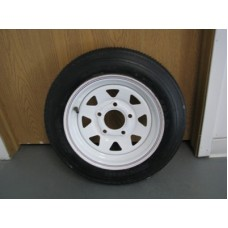 White Rims with Tires 12 inch 5-hole